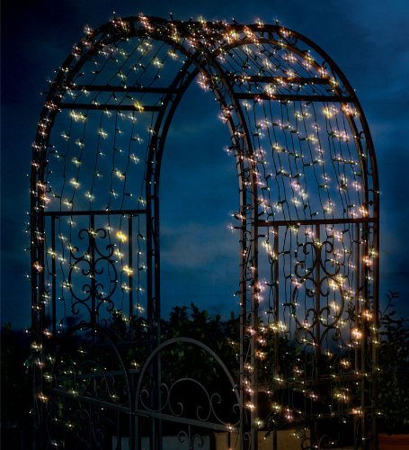 Solar String Lights With White LEDs, 200 count