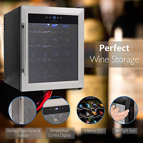 NutriChef 16 Bottle Thermoelectric Wine Cooler