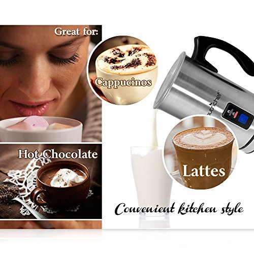 NutriChef PKMFR10 Electric Milk Frother and Warmer