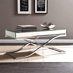 Southern Enterprises Ava Mirrored Cocktail Table