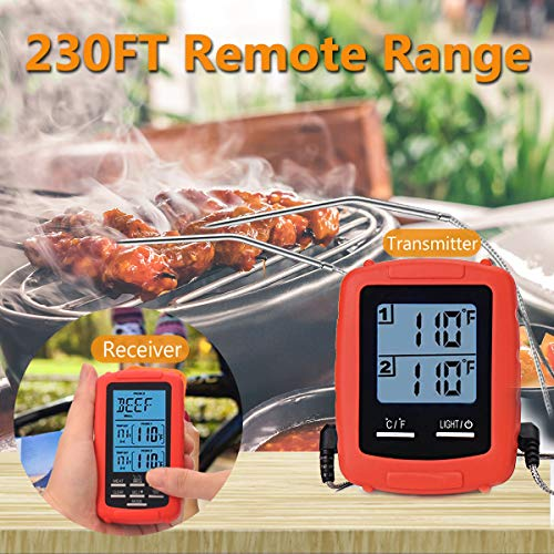 Meat Thermometer Digital Grill Oven or Smoker Remote