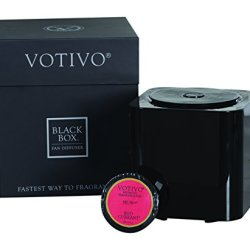 Votivo Black Box Fan Diffuser with Red Currant Fragrance Pod