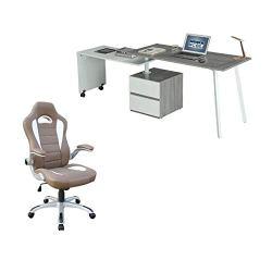 Techni Mobili Set of 2 Rotating Computer Desk