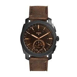 Fossil Q Men's Machine Stainless Steel Hybrid Smartwatch, Color: Black