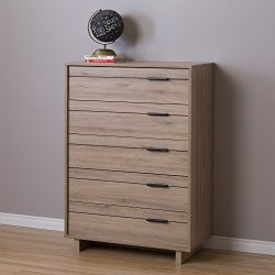 South Shore Fynn Collection 5-Drawer Chest - Rustic Oak