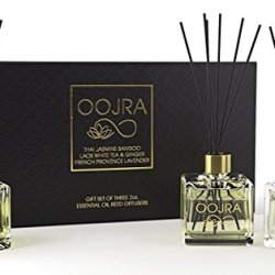 Oojra 3 Essential Oil Reed Diffusers Aromatherapy