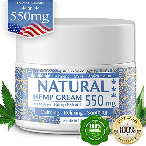 Organic Hemp Pain Relief Cream, 550 Mg, Non-GMO