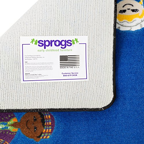"Sprogs Kids Global Friends Rug (7' 6"" W x 12' L)"