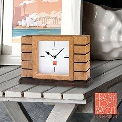 Bulova Usonian II Mantel Clock, Natural Finish