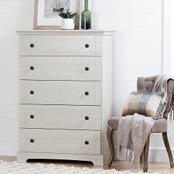 South Shore Avilla 5-Drawer Dreser, Winter Oak