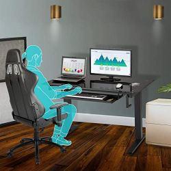 Techni Mobili Adjustable Standing Desk, Black