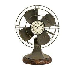 IMAX Thatcher Vintage Fan Clock