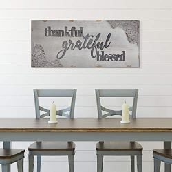 American Art Decor Thankful, Grateful, Blessed Vintage