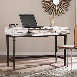 Southern Enterprises Capri Desk in Stark White and Black