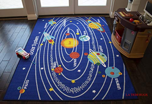 Kids Area Rugs Solar System 8 x 10 Educational Learning