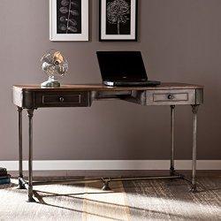 Southern Enterprises Edison Industrial 2 Drawer Desk