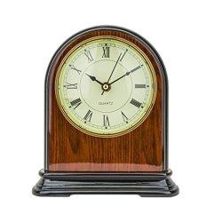 Fireplace Wood Antique Vintage Clock