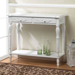 Accent Plus Antique-Look Traditional Hallway Table