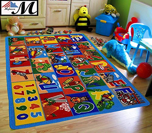 Mybecca Kids Rug Numbers and Letters Area Rug