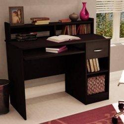 South Shore Smart Basics Small Desk,Chocolate