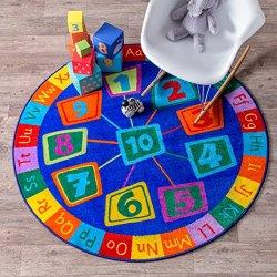 nuLOOM MCGZ06A Number Circles Kids Rug