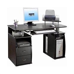 TECHNI MOBILI Atua Wood Computer Desk in Espresso