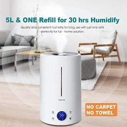 Cool Mist Humidifier Ultrasonic 5L/1.32 Gal for Baby