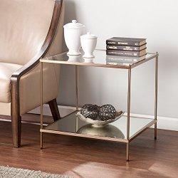 Southern Enterprises Knox End Table, Metallic Gold Finish