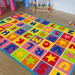 Champion Rugs Kids Area Rug ALPHABET Learning