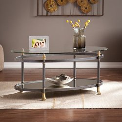 Southern Enterprises Allesandro Oval Cocktail Table