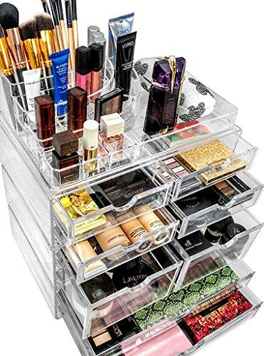 Sorbus Organiser Acrylic Cosmetics Jewelry Storage