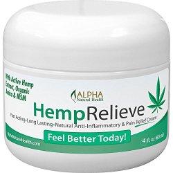Organic Hemp Extract 200 Mg Pain Relief Cream