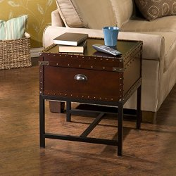 Southern Enterprises Voyager Storage Side End Table