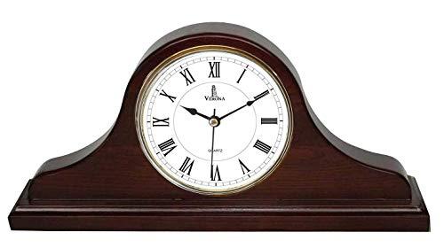 Best Mantel Clock, Silent Decorative Wood Desk Clock