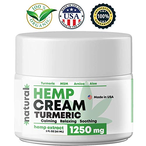 BLOOMCROP Natural Hemp Extract Pain Relief Cream