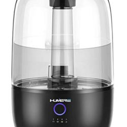 Cool Mist Ultrasonic Humidifier for Bedroom with Large Top Fill Tank