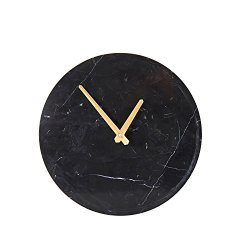 Sagebrook Home Marble Wall Clock 12.5 x 12.5 x 2 Black