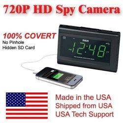 SecureGuard HD 720p USB Charger & Clock