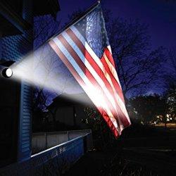 MAXSA Directionally Focused Solar LED Flag Light