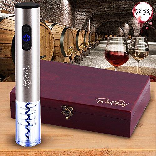Premium Electric Wine Opener Set in Wooden Case