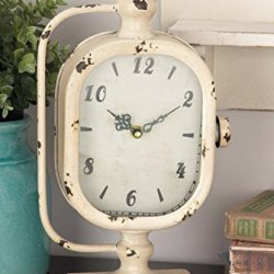 Deco Metal Clock, 2 Assorted, 8 by 14""