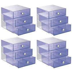 InterDesign 3-Drawer Storage Organizer for Cosmetics