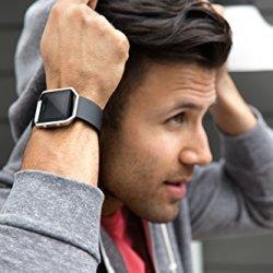 Fitbit Blaze Smart Fitness Watch, Black, Silver, Small
