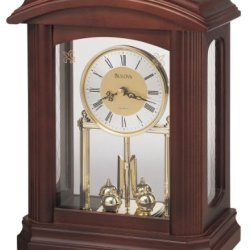 Bulova Nordale Clock, Walnut Finish