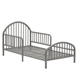 Novogratz Prism Metal Toddler Bed, Grey