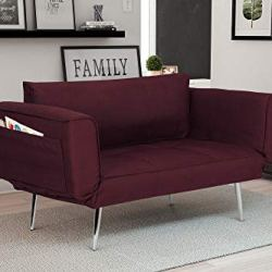 Novogratz Leyla Loveseat, Berry