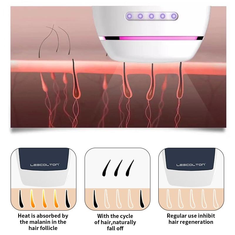 Laser Depilator Permanent Hair Removal IPL Epilator Touch Body Leg Bikini Trimmer Photoepilator For Women 5