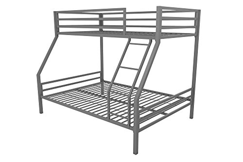 Sturdy Metal Frame with Ladder and Safety Rails, Grey