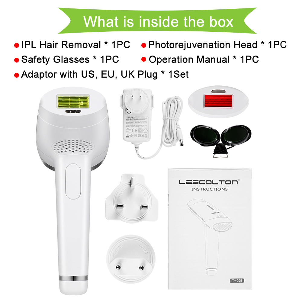 lescolton 2in1 laser hair removal machine IPL epilator pigmentation apparatus 700000 times home use beauty device depilador T009 18