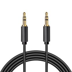 3.5 mm Male to Male Stereo Audio Cable, Gold Plated, Slim Connector